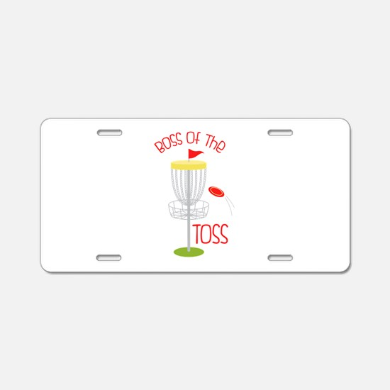 Toss Boss Aluminum License Plate
