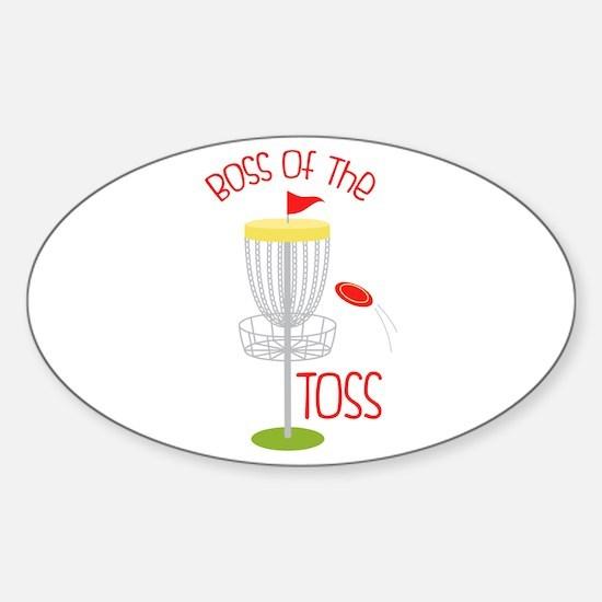 Toss Boss Decal