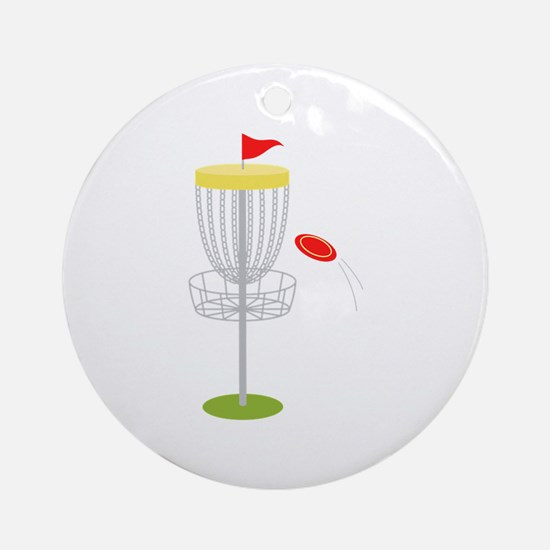 Frisbee Disc Golf Round Ornament