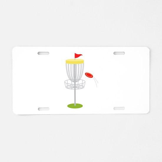 Frisbee Disc Golf Aluminum License Plate