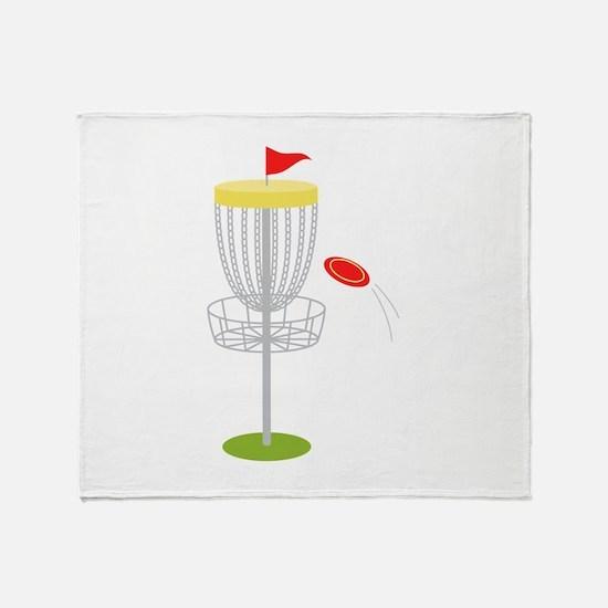 Frisbee Disc Golf Throw Blanket