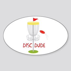 Frisbee Disc Dude Sticker