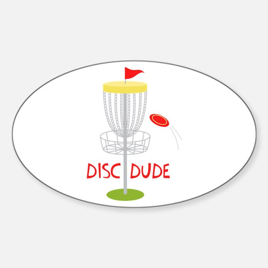 Frisbee Disc Dude Decal