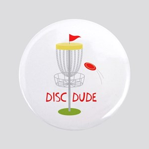 Frisbee Disc Dude Button