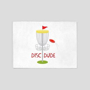 Frisbee Disc Dude 5'x7'Area Rug