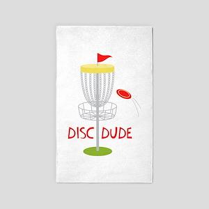 Frisbee Disc Dude Area Rug