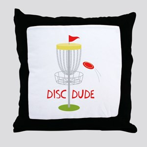 Frisbee Disc Dude Throw Pillow