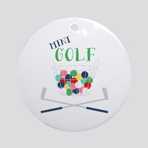 Mini Golf Round Ornament