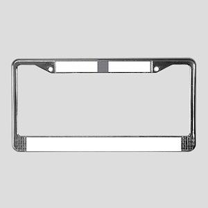 silver metallic License Plate Frame