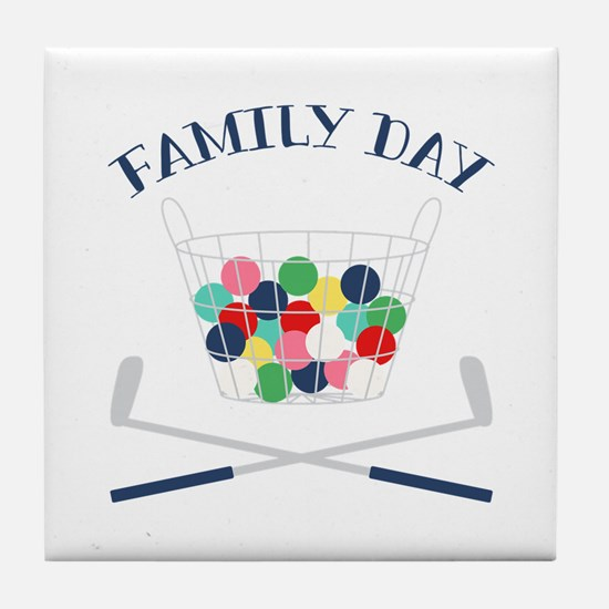 Family Day Tile Coaster