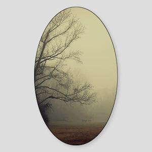 A Gathering of Fog Sticker (Oval)