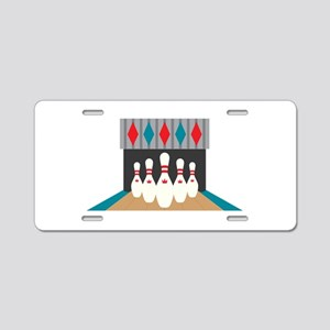 Retro Bowling Alley Aluminum License Plate