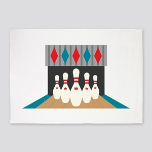 Retro Bowling Alley 5'x7'Area Rug
