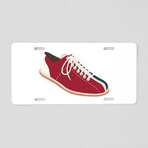Bowling Shoe Aluminum License Plate