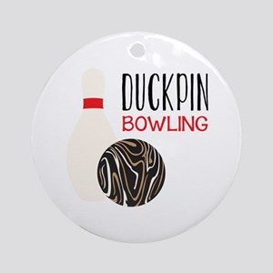 Duckpin Bowling Round Ornament
