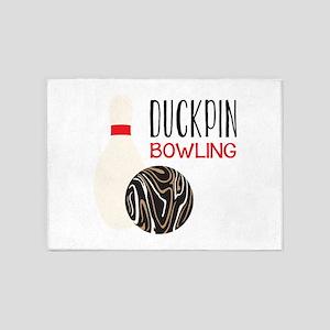 Duckpin Bowling 5'x7'Area Rug