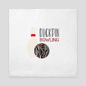 Duckpin Bowling Queen Duvet
