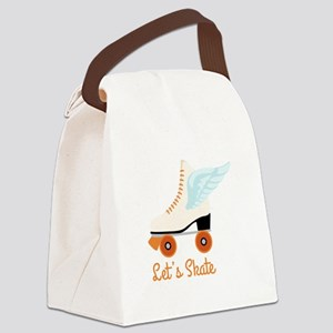 Lets Skate Canvas Lunch Bag