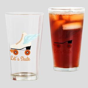 Lets Skate Drinking Glass