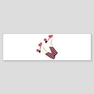 Roller Derby Skates Bumper Sticker