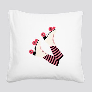 Roller Derby Skates Square Canvas Pillow