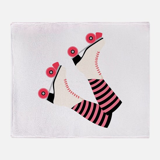 Roller Derby Skates Throw Blanket