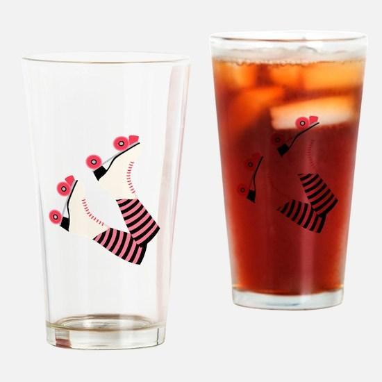 Roller Derby Skates Drinking Glass