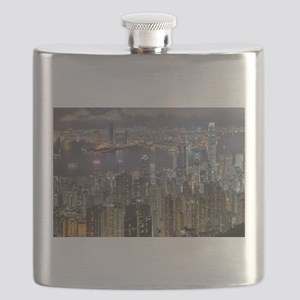 Hong Kong Skyline at night from Victoria Pea Flask