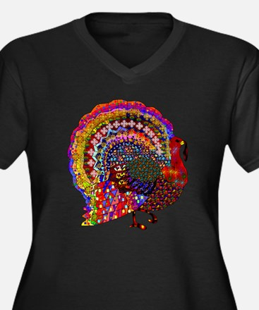 Dazzling Artistic Thanksgiving T Plus Size T-Shirt