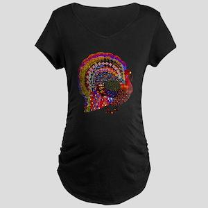 Dazzling Artistic Thanksgiving T Maternity T-Shirt