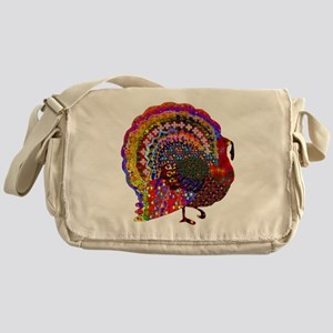 Dazzling Artistic Thanksgiving Turke Messenger Bag