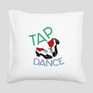 Tap Dance Square Canvas Pillow