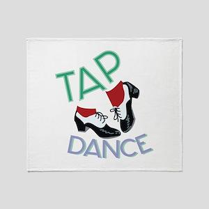 Tap Dance Throw Blanket