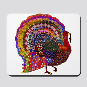 Dazzling Artistic Thanksgiving Turkey Mousepad