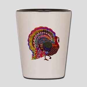 Dazzling Artistic Thanksgiving Turkey Shot Glass