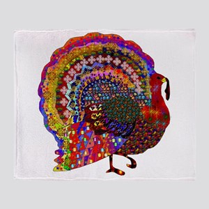 Dazzling Artistic Thanksgiving Turke Throw Blanket