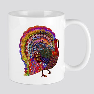 Dazzling Artistic Thanksgiving Turkey Mugs