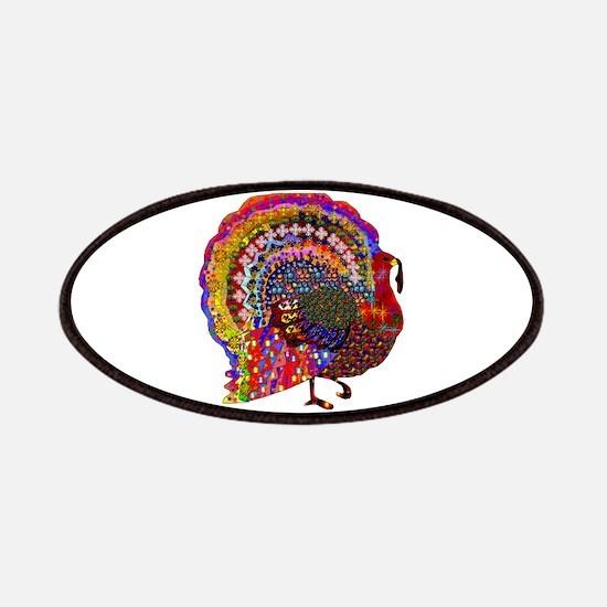 Dazzling Artistic Thanksgiving Turkey Patch
