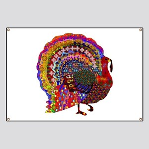 Dazzling Artistic Thanksgiving Turkey Banner