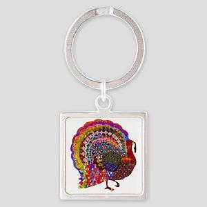 Dazzling Artistic Thanksgiving Turkey Keychains