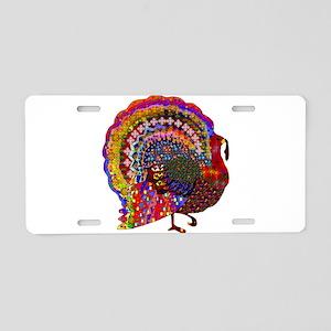 Dazzling Artistic Thanksgiv Aluminum License Plate