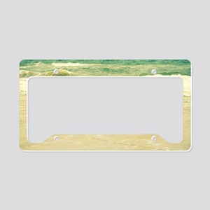 Karate Pose License Plate Holder