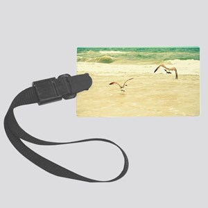 Karate Pose Large Luggage Tag