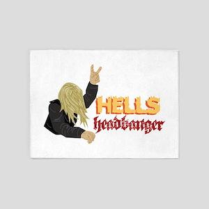 Hells Headbanger 5'x7'Area Rug