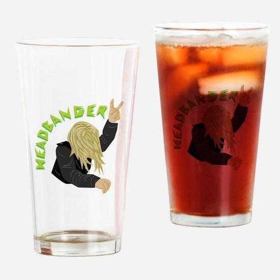 Headbanger Drinking Glass