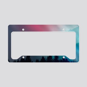 Mountain Light License Plate Holder