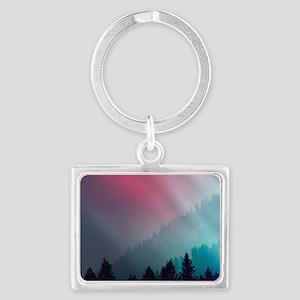Mountain Light Landscape Keychain