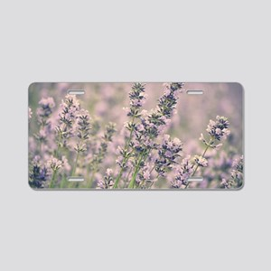 Smell the Flowers Aluminum License Plate
