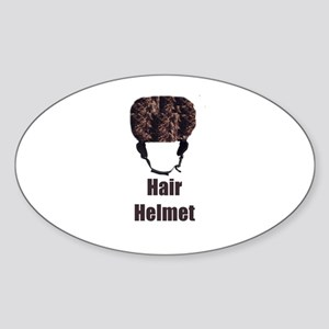 Hair Helmet Oval Sticker