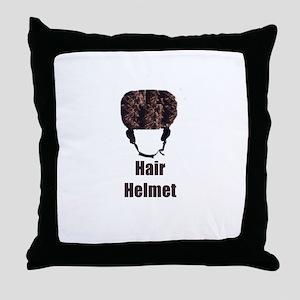 Hair Helmet Throw Pillow